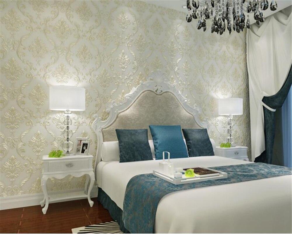 beibehang Luxury European Damascus Stereo Fine Nonwoven 3d Wallpaper Living Room Bedroom Background Wallpaper papel de parede beibehang papel de parede wallpaper fine