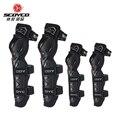 Защитные наколенники для мотоцикла Scoyco  защитные наколенники для мотогонок  высокое качество  CE  защита для колена  черные  красные  motocicleta ...