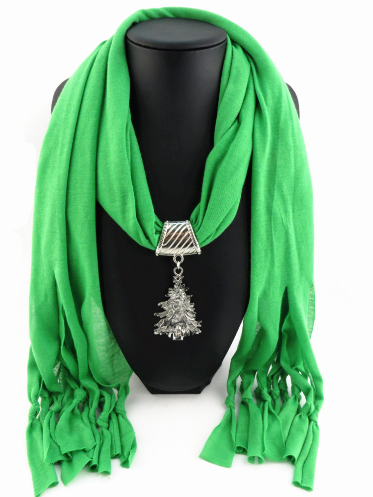2015 new arrival charms scarf jewellery pendant scarf