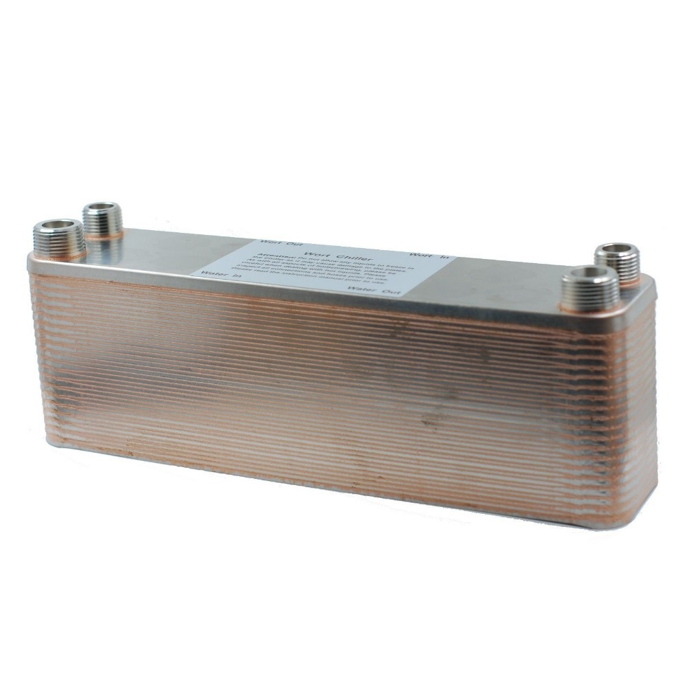 """40 Plate Wort Chiller,12.4""""x2.9"""", SS304, Brewing Chiller  World Free Shipping-in Other Bar Accessories from Home & Garden    1"""