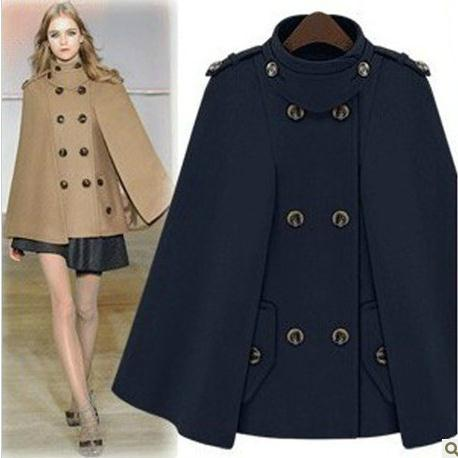 Popular Wool Cape Jacket-Buy Cheap Wool Cape Jacket lots from ...