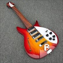 Высокое качество, вишнево-красный, полуакустическая Дека R325 Электрический Гитары 6 Строки Гитары, все Цвет доступны, бесплатная доставка!