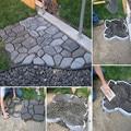 Jardim ferramentas de molde para o concreto de pavimentação De Pedra DIY molde plástico caminhos para o jardim 43*43*4 cm