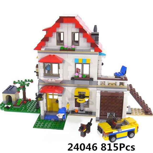 Lepin Maison Bâtiment 24046 la Famille Villa Set Blocs Briques Compatible Legoings Créateurs Série 31069 Enfants Jeu Jouet Cadeau