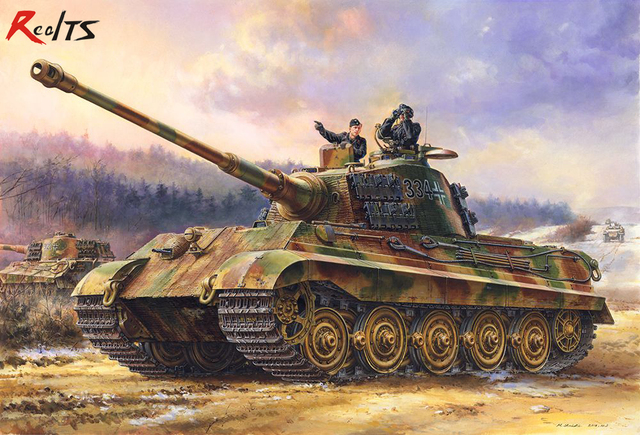 Realts modelo meng TS 031 1/35 sd alemão kfz.facelift king tiger henschel turret