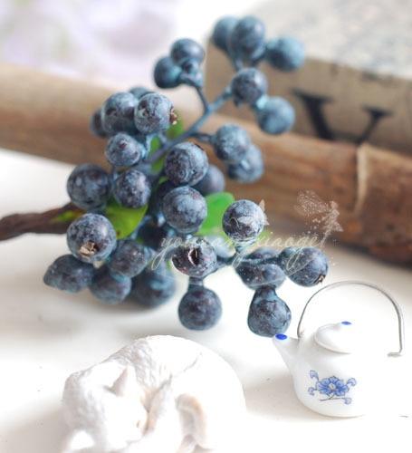 vruća prodaja dekorativni borovnica voće bobica umjetni cvijet - Za blagdane i zabave - Foto 5