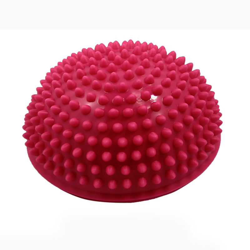 Yoga Half Ball Physical Fitness Appliance Exercise balance Ball point massage stepping stones balance pods GYM YoGa Pilates pink