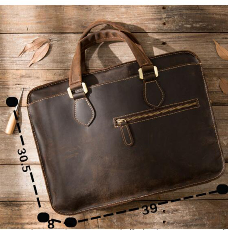 Geschäfts Männer Aktentasche 1 Herren Tasche Aetoo Leder Horizontale Retro Handtasche Horse Casual Crazy 2 Umhängetasche wRRq4IFzA