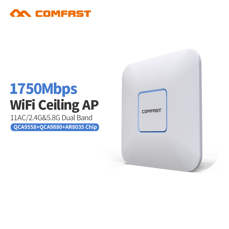 Comfast 1750mbps 2.4GHz 5GHz Dual Band AP Wireless wifi Repeater AC Extender Repeater Router built in Antennas Wi-Fi Extender