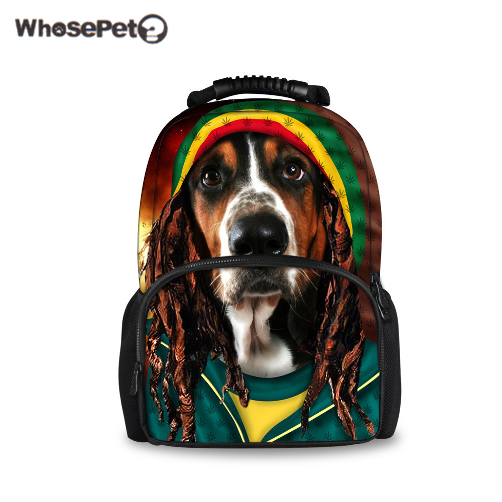 WHOSEPET Durable School Bags Vivid Super Break Punk Skull Printing Bags Large Capacity Travel BackBags Colleage School BackBag