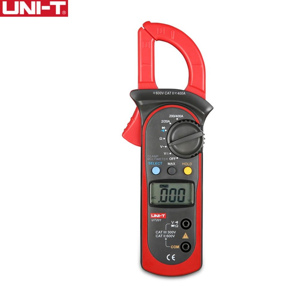 UNI-T UT201/202 UT202A UT203/204 UT204A Digital Clamp Multimeter 400-600A Voltage Current Resistance/Ohm Meter Tester Auto Range ulyde uni t ut202a ac clamp meter 600a