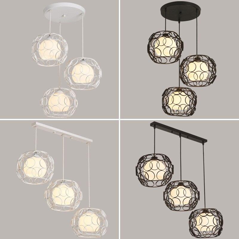 TUDA Free Shipping Modern Minimalist Style Pendant Lights Creative Personality Art Iron Bar Restaurant LED Pendant Lights E27