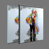 100% handgeschilderde Bruiloft Liefhebbers Art Wall Art Pop Art Olieverfschilderij Hoge Kwaliteit