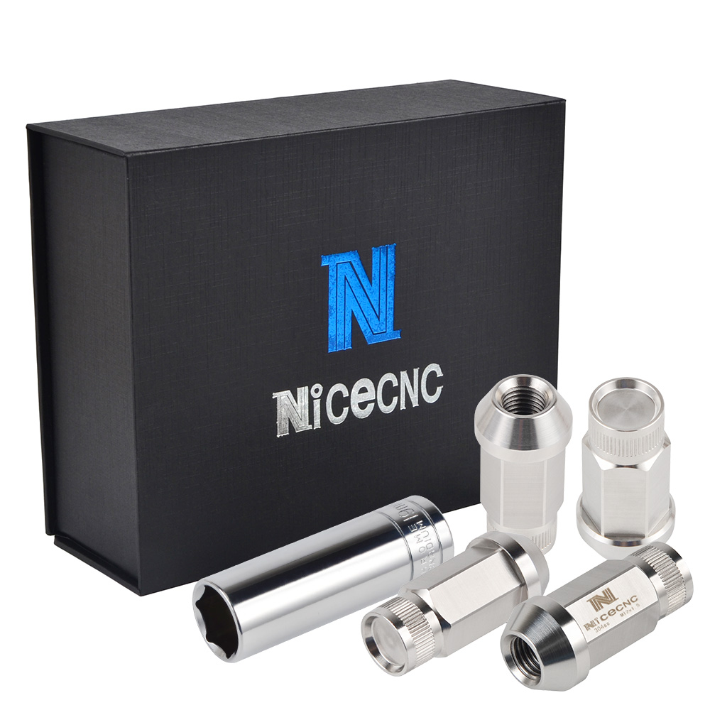NICECNC 20PCS M12x1 5 Trail Wheel Rim Lugs Nuts Chrome Acorn Cone Seat Lug Bolts For Honda Civic Fit Prelude S200 T304 Stainless in Wheel Lugs from Automobiles Motorcycles