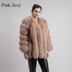 Image 3 - สีชมพูJava QC8128ผู้หญิงใหม่มาถึงฤดูหนาวเสื้อผ้าจริงFoxขนสัตว์ขนสุนัขจิ้งจอกธรรมชาติเสื้อขายร้อนBig Furแขนยาว