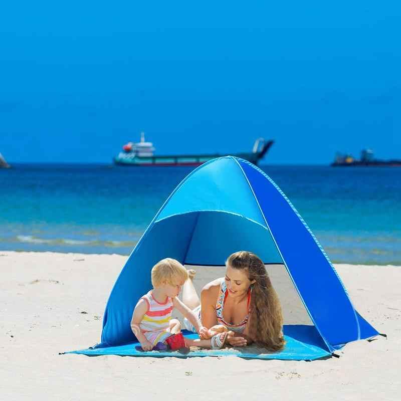Автоматический всплывающий мгновенный портативный на открытом воздухе Быстрый кабана пляж тент навес от солнца, синий