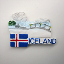 Iceland Hand Painted Resin Fridge Magnet Country Tourism Souvenirs Magnetic Massage Sticker Home Decoration B22Iceland