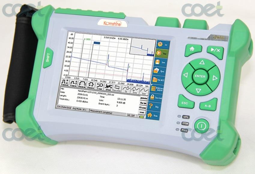 Komshine Fibre Optique OTDR QX50 SM Faute Localisation 1310/1550nm Ecran Tactile Built in VFL Optical time domain reflectometer