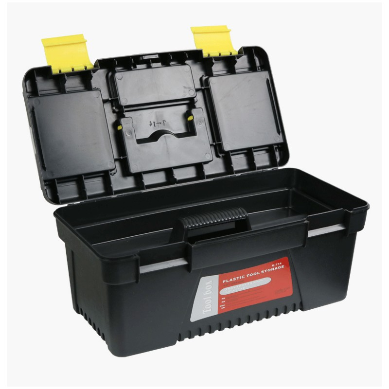 12 Inch Portable Toolbox Home Hardware Plastic Tool Box Car Repair Box 304x137x105mm Storage Box With Tray Compartment