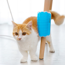 Removable Pet Comb Cat Corner Scratching Rubbing Brush Hair Removal Massage Combs Dog Grooming Cleaning Supplies