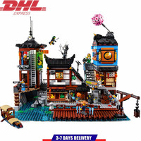 Ninjagoed City Docks Building Blocks Sets Bricks Ninja Masters Movie Classic Model Kids Toys Gifts Marvel Compatible Legoe