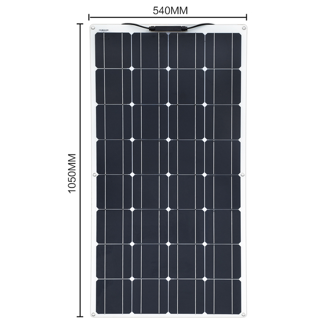 2Pcs 4Pcs 10Pcs 100W solar panel Monocrystalline Solar Cell Flexible for Car/Yacht/Steamship 12V 24 Volt 100 Watt Solar Battery 3