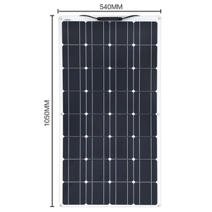 Image 3 - 2Pcs 4Pcs 10Pcs 100 W פנל סולארי Monocrystalline תאים סולריים גמיש עבור רכב/יאכטה/ספינת קיטור 12V 24 וולט 100 ואט סולארי סוללה