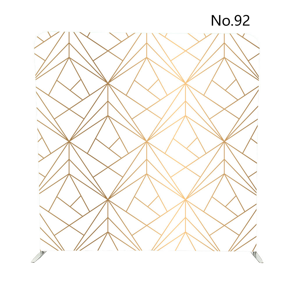 230X230cm custom print No 19 No 92 double sided printed pillow case tension backdrop for photo