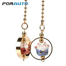FORAUTO Car Rearview Mirror Decoration Hanging Ornament Lucky Cat Car