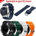 Venta caliente correas de reloj negro 22mm marca de lujo nueva moda pulsera de silicona de deportes venda de la correa para samsung gear s3 frontera