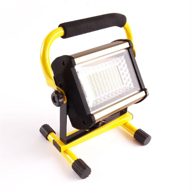 2pcs/lot Powerful 4 lighting modes IP65 waterproof emergency LED work lamp 100w portable rechargeable LED flood light ...