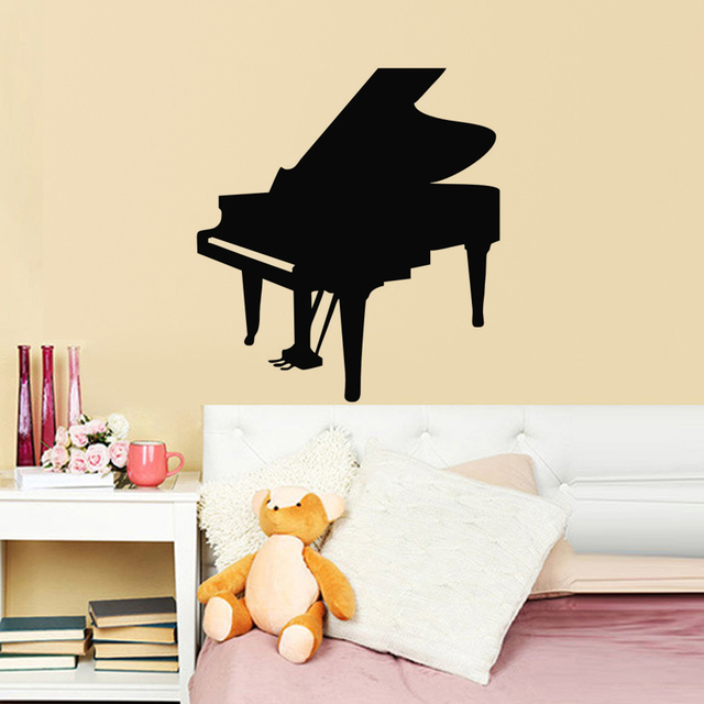 Online Shop Living Room Wall Decor Mural Musical Instruments Piano ...