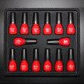 Pro 12 Цвет Nail Art Замочить от Уф-Гель Польский + База Top Coat Набор УФ-Гель Блеск Советы Декорации, Как Супер подарок