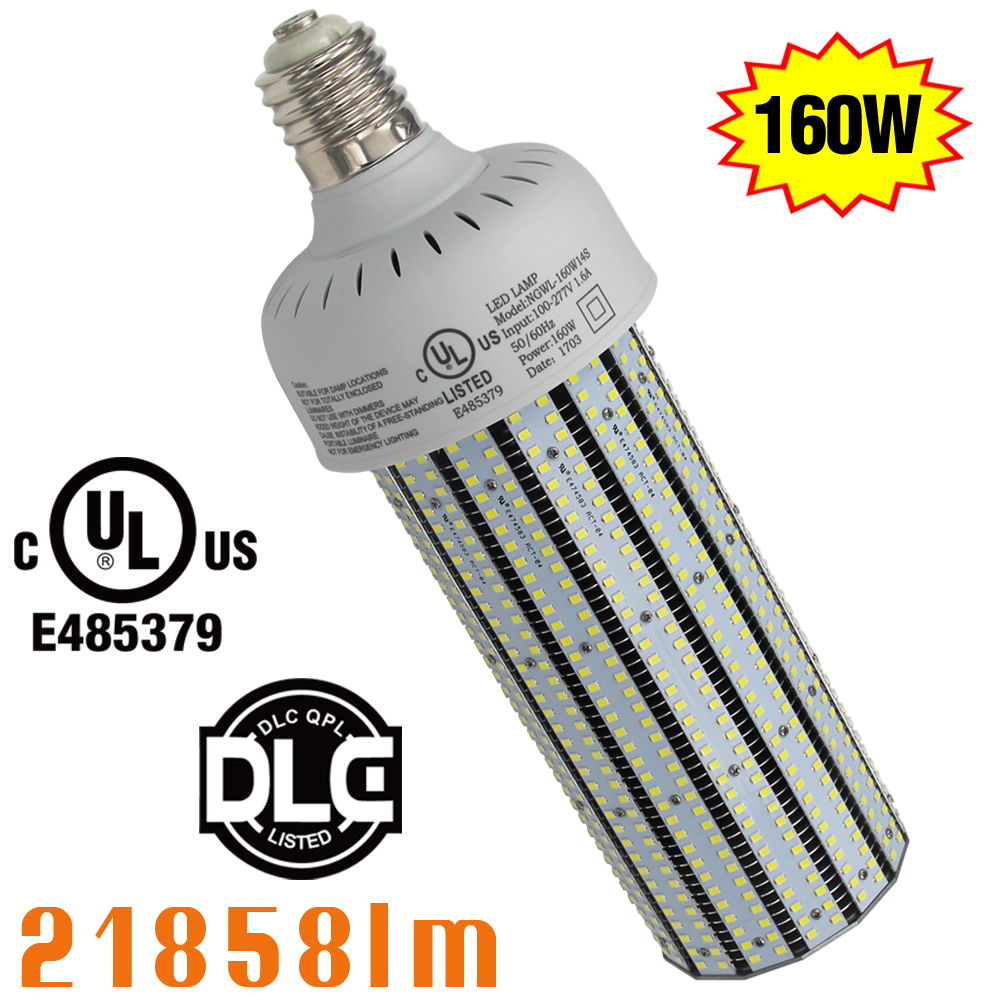 UL DLC approved 160W led Corn Cob Bulb Light 500W HPS