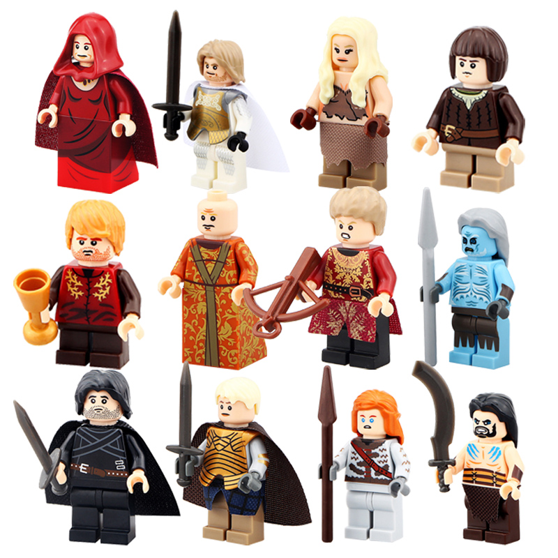 Game of Thrones Minifigures Toy Ice and Fire Jon Snow Stark White Building