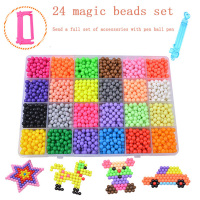 Kids Toys Puzzle Games 5mm Aquabeads Perlen Magic Water Beads Toys Educational NEW 24 Colors Aqua Beads Puzzle Choice PuzzlesA20