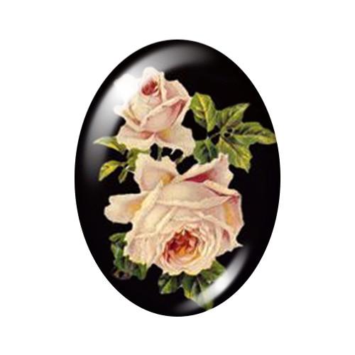Красивые Винтажные Цветы Роза Маргаритка 10 шт. 13x18 мм/18x25 мм/30x40 мм овальные фото стекло кабошон демонстрационная плоская задняя часть изготовление TB0043 - Цвет: N