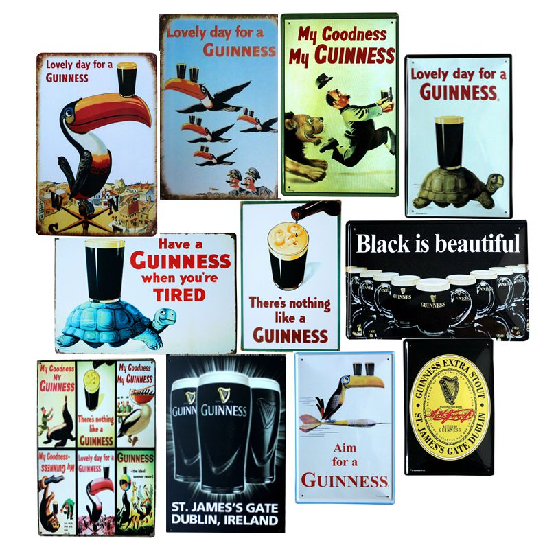 Mooie dag voor een Guinness Metal Painting Retro bord Wall Bar Home Art Decor Cuadros 30X20CM A-5820