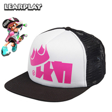 Splatoon 2 Splatfest King Flip Mesh Caps Adjustable Baseball Cap Trucker Hat Halloween Party Costume Accessories For Adults Kids