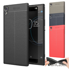 "Phone Cases For Sony Xperia XA1 Ultra Case 6.0"" Luxury TPU Silicone Imitation Leather Soft Cover For Sony XA1 Ultra Back Cover"