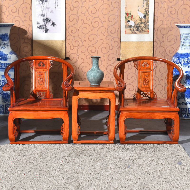 Chinese Living Room Furniture: New Chinese Style Antique Living Room Chair Three Piece