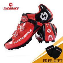 2017 Hot Sale Sidebike MTB Bike Shoes White Red Cycling Shoes Self locking Ride Bicycle Shoes