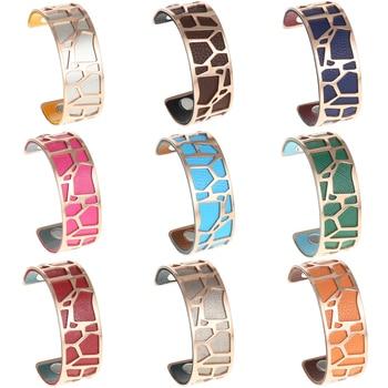 Cremo Giraffe Bracelets & Bangles For Women Stainless Steel Jonc Bijoux Femme Cuff Bangle 3