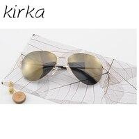 Kirka Klassischen Aviator Typ Männer oder Frauen Sonnenbrille Original Luxus CR39 Objektiv Edelstahl Material UV400 Spiegel Sonnenbrille