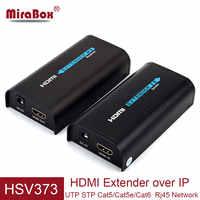 Extension HDMI MiraBox sur IP TCP 80 m/100 m/120 m extension HDMI sur Cat5/Cat5e/Cat6 vers récepteur de transfert HDMI réseau Rj45 UTP
