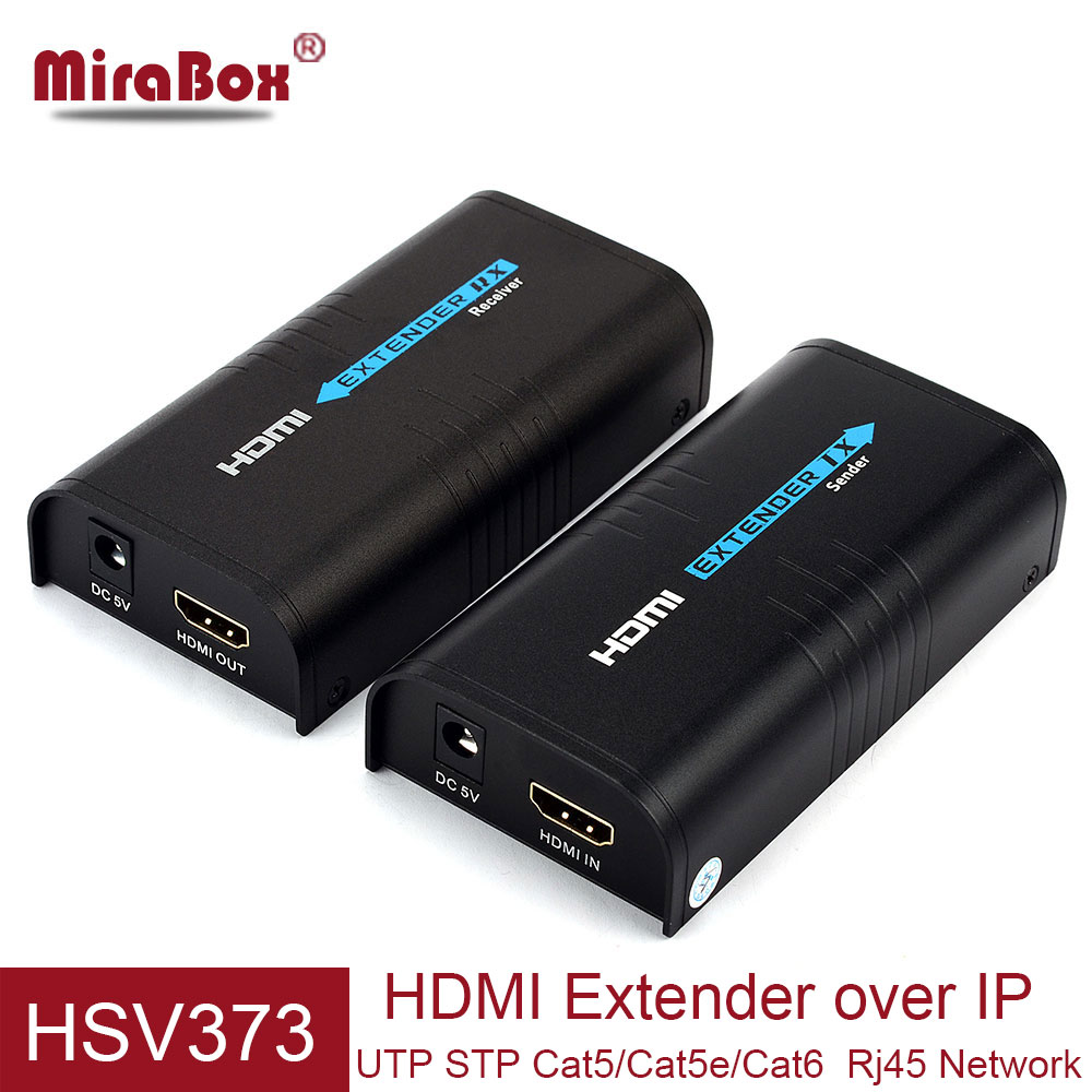 MiraBox HDMI Extender over TCP IP 80m/100m/120m HDMI Extensor over Cat5/Cat5e/Cat6 to UTP Rj45 Network HDMI Transmissor Receiver over tcp ip hdmi extender cat5 with ir 100m 120m 150m with audio extractor by utp stp rj45 cat5e cat6 hdmi ethernet extender