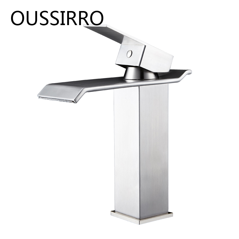 Bar Sink Faucets Basin Faucets Waterfall Faucet Single Handle Basin Hot and Cold Mixer Tap Bathroom Faucet Sink Chrome Finish bathroom basin faucets modern chrome finished bathroom faucet single hole cold and hot water tap basin faucet mixer taps