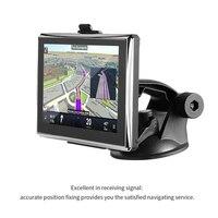 מסך מגע LCD תצוגת LESHP מיקום מדויק שחור מפת ניווט GPS HD רכב לנהיגה בטוחה מיקום מדויק