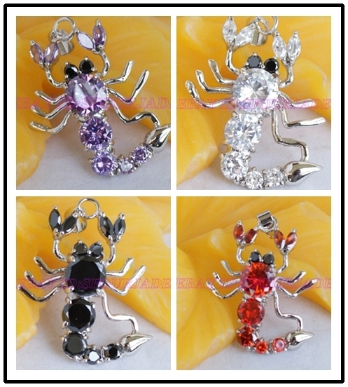wholesale font b Cheap b font double Lady s Bride 4pcs Fashion jewelry Austria Crystal Scorpion