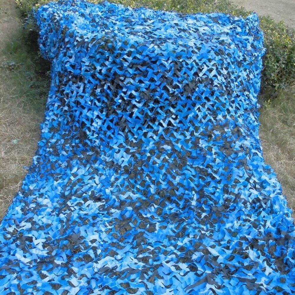 3.5M*4M filet Camo Netting blue camouflage netting for sunshade awning gazebo camping tent sun shading tent sun shelter hiking